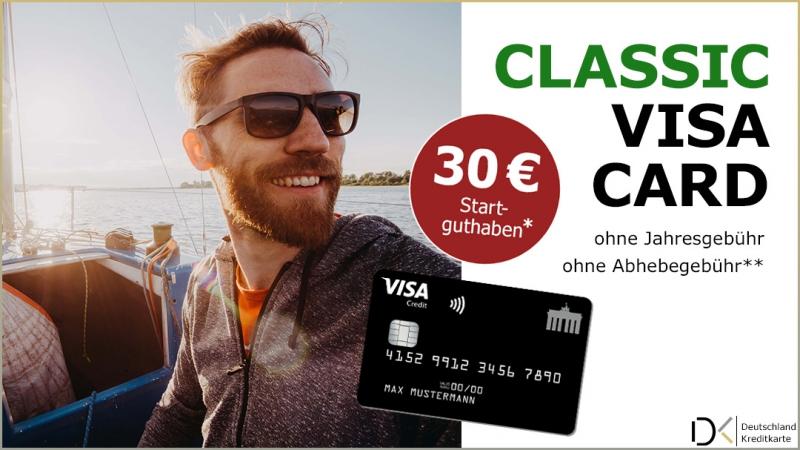 30 € Startguthaben für die Deutschland-Kreditkarten