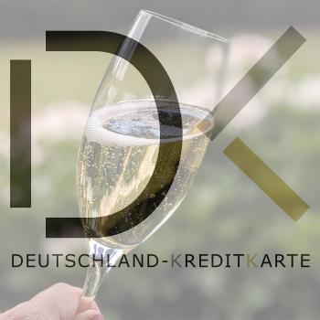 Deutschland-Kreditkarte-Logo & Sektglas