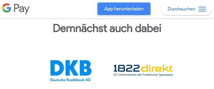 Breaking News: 1822direkt unterstützt Google Pay