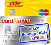 cardNmore Kartendoppel beantragen und über 2.222 Zusatzpunkte freuen