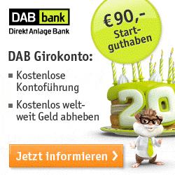 DAB Girokonto und Kreditkarte