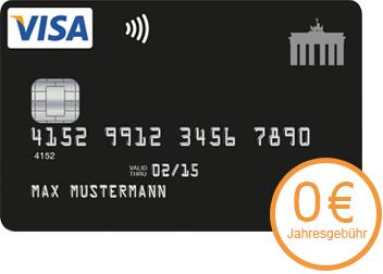 Kostenlose Kreditkarte mit Rückvergütung