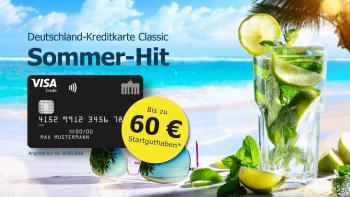 Deutschland-Kreditkarte Classic: Mobile Payment-Alternative, jahresgebührfrei, 60 € geschenkt*