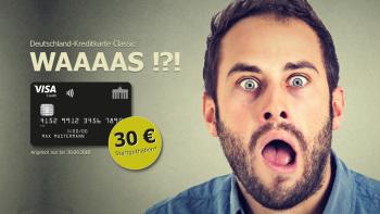 Deutschland-Kreditkarte Classic   Kontaktlos, jahresgebührfrei und mit 30 € Startguthaben*