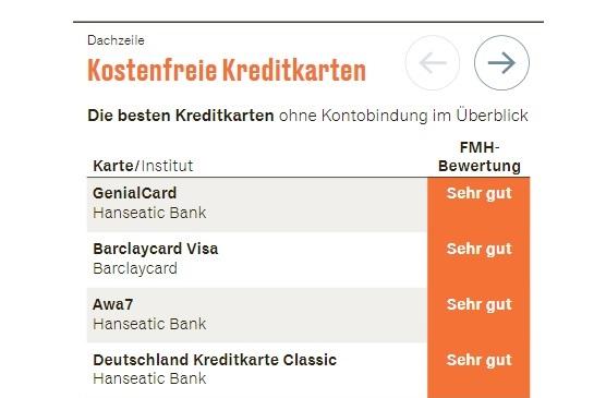 Deutschland-Kreditkarte: eine der besten kostenlosen Kreditkarten