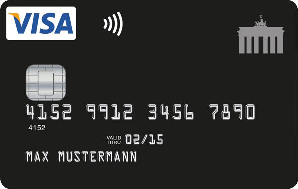 Deutschland Kreditkarte im neuen, schwarzen Design