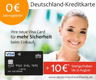 Startguthaben auf Deutschland-Kreditkarte