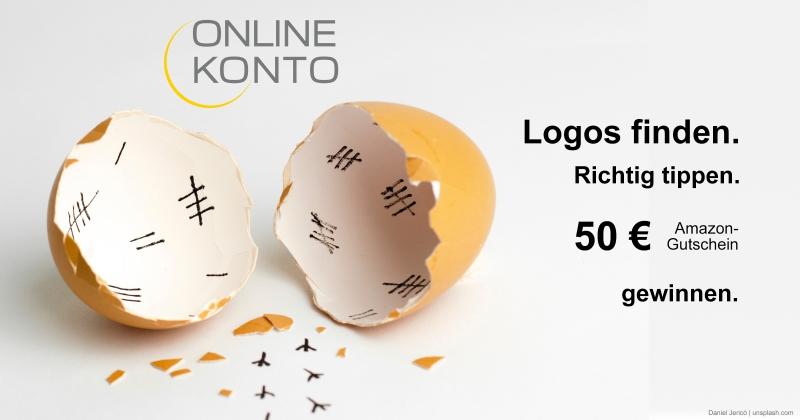 versteckte Logos vom Onlinekonto im Osterbild