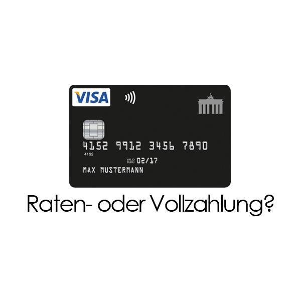 deutschland kreditkarte die wahl zwischen raten und vollzahlung. Black Bedroom Furniture Sets. Home Design Ideas