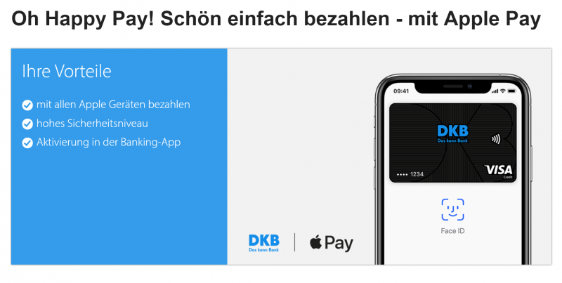 DKB mit Apple Pay & Twitter