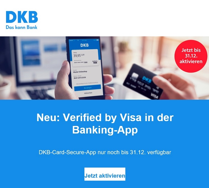 DKB vereinfacht Sicherheitsverfahren