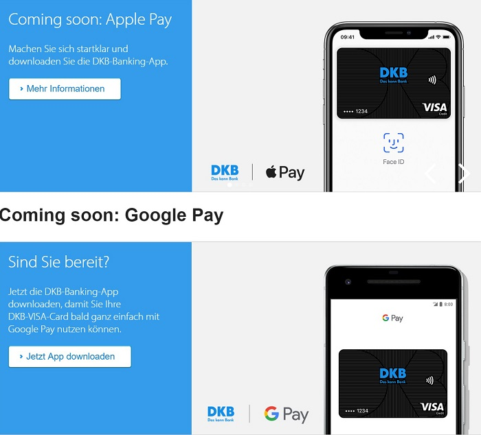Girokonto Comdirect Dkb Und Norisbank Im Vergleich: DKB Will Apple Pay & Google Pay Unterstützen