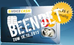 VoiceCash Prepaid MasterCard beendet