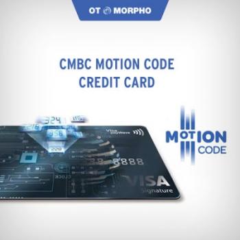 Erste Kreditkarte mit Motion Code in Asien erhältlich