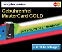 Frühjahrs-Verlosung: Mit Gebührenfrei MasterCard GOLD iPhone 5c gewinnen