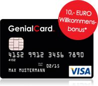 Genialcard mit 10 Euro Bonus