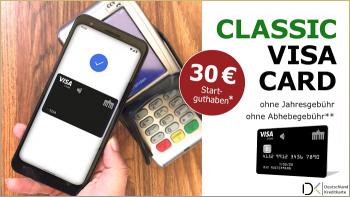 Deutschland-Kreditkarte Classic in Google Pay & mit 30 € Startguthaben