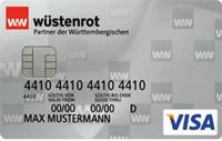 Kostenlose VISA Prepaid Kreditkarte der Wüstenrot Bank punktet bei Finanztest