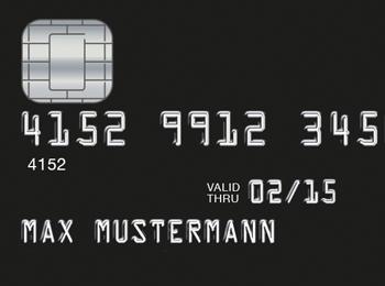 Die Exklusivität von schwarzen Kreditkarten