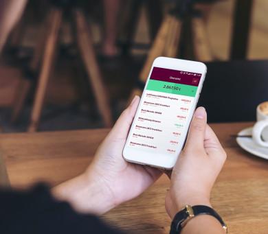 Kreditkarten-Kostenkotrolle per App