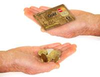 Kreditkarten sind sicherer als Bargeld