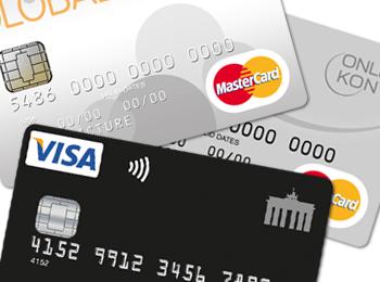 Kreditkarten: Mehr als 10 Prozent Anteil bei Online-Zahlungen