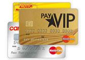 payVIP MasterCard GOLD Kreditkarte und cardNmore Karten-Doppel