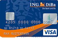 Neue kostenlose Kreditkarte im Kreditkartenvergleich – Teil 2: ING-DiBa VISA Kreditkarte