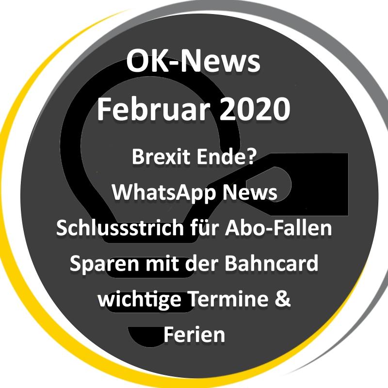 Übersicht der News vom Februar