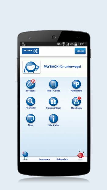PAYBACK plant Mobile Payment per App