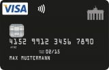 Schwarze Kreditkarte Made in Germany