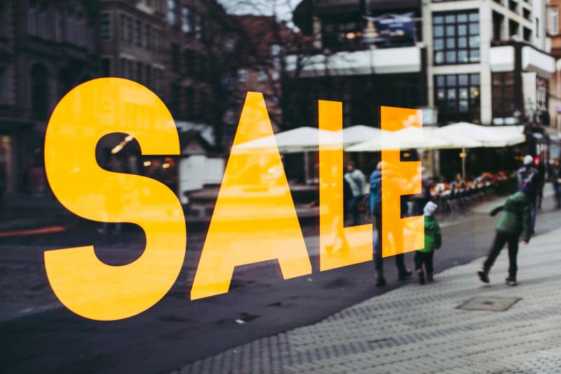 Sale-Schriftzug