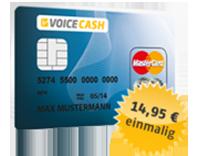 VoiceCash Prepaid MasterCard – Kreditkartenprogramm wird beendet