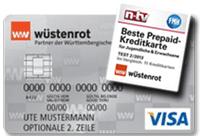 Wüstenrot stellt den Testsieger in der Kategorie Prepaid-Kreditkarten